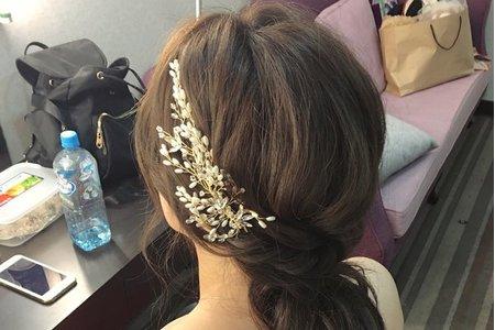 Bride巧柔/氣質低盤髮/空氣感低馬尾