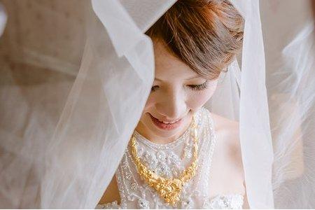 【bride】細軟髮新娘-Sandy(攝影:PaPa-photo Story婚禮影像工作室)