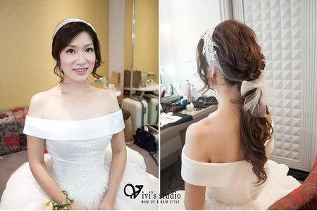 【bride】好評滿滿的典雅氣質新娘造型 新莊晶宴 新娘宥伶