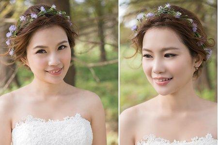 [新娘鮮花造型] 害羞新娘也能駕馭的花環造型!清新小碎花鮮花花環