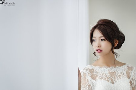 [新娘造型] 乾淨純粹的美好!自然不做作的鬆鬆盤髮造型