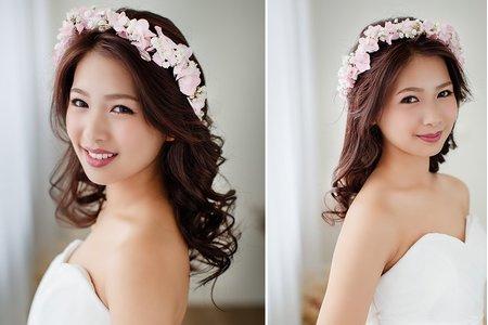 [新娘造型] 春季粉嫩色!充滿清新甜美的新娘鮮花造型