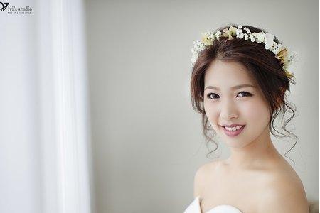 [新娘造型] 清新秀麗的鮮花花環超可愛!輕柔甜美的新娘鮮花造型