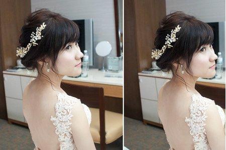 [新秘] 不可比擬的氣質婚禮造型!桃園翰品酒店 新娘乃瑜
