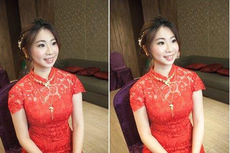 【bride】一定要優雅迷人!透亮妝感&婉約盤髮的文定造型 新娘Apple