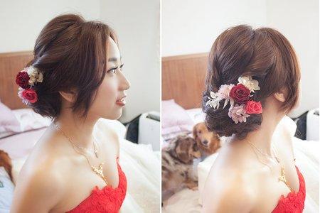 【bride】 乾燥花與不凋花的浪漫組合!好感度百分百的文定造型