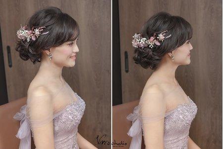 [新娘髮型] 浪漫絕美不凋乾燥花造型