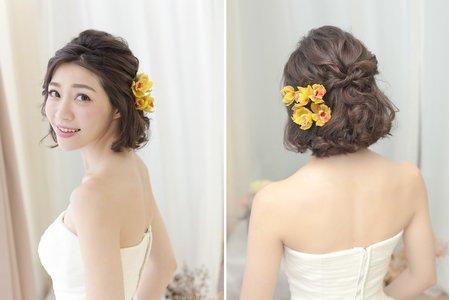 [新娘髮型] 短髮控也能耍浪漫