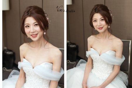 [不凋花乾燥花] 甜美浪漫低盤髮新娘敬酒造型