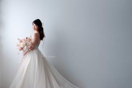 [仙氣新娘髮型] 浪漫小清新蝴蝶結新娘造型