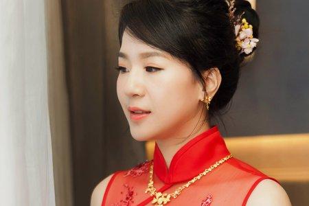 中式禮服/龍鳳掛/秀禾服 古典娟秀氣質典雅新娘造型