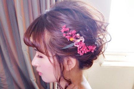 新娘(菀渝)婚宴-韓風短髮造型