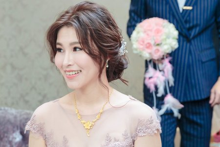 [韓式]-低盤髮甜美又典雅