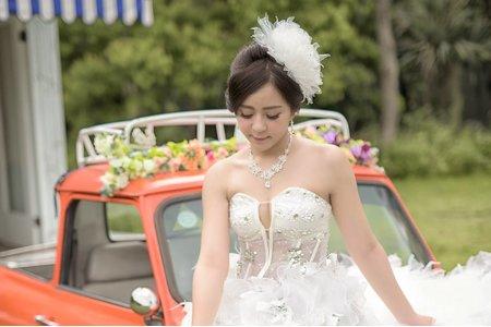 歐風禮帽白紗造型