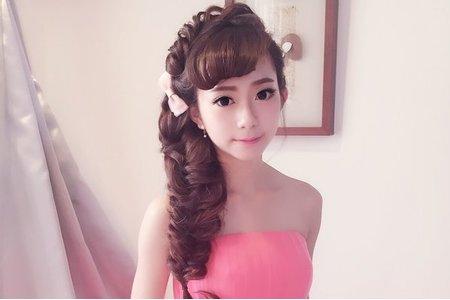 俏麗編髮造型作品