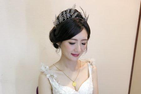 桂冠宮廷造型(婚禮日)