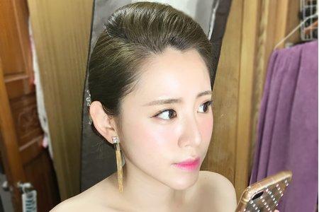 明星紅毯油頭盤髮造型(婚禮當日)