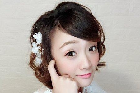 短髮造型作品/新秘 幫您Bonnie/桃園台北新竹宜蘭