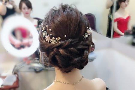 典雅低盤髮(宴客日造型)/新秘幫您Bonnie/桃園/宜蘭