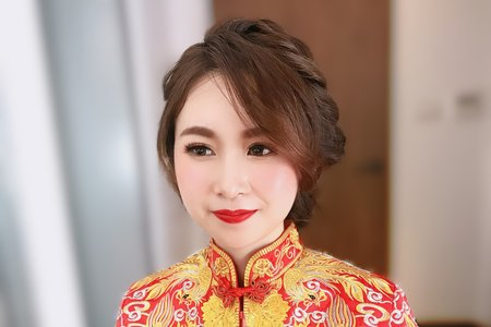 11/23香港新娘龍鳳掛奉茶造型