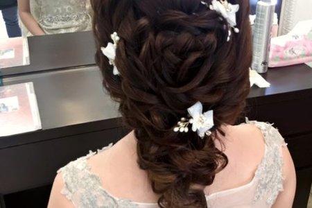[小香-Abby] 新娘造型 白紗造型 bride 芬綺