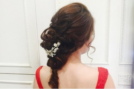 [小香-Abby] 婚紗造型 浪漫盤髮