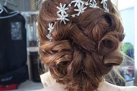婚紗-優雅低包頭/時尚高盤髮/浪漫花環長髮