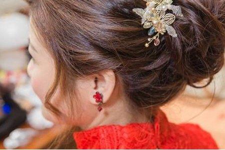 怡君婚宴-旗袍造型/韓式低包頭