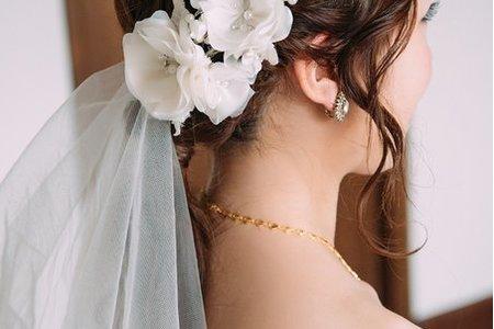 家瑜婚宴-低馬尾/時尚盤髮/艾莎側編髮