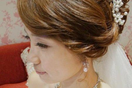 希昀婚宴-進場氣勢花苞頭/側魚骨編髮