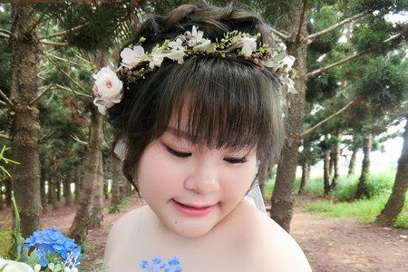 Lillian新秘工作室-森林系花環+復古編髮馬尾+編髮公主頭