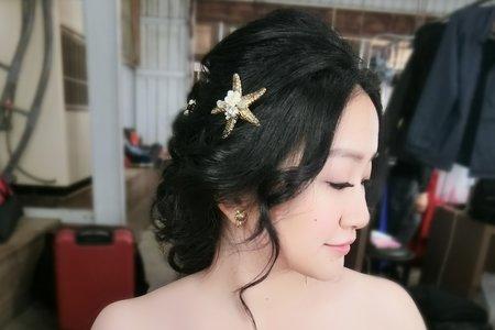 Lillian新秘工作室-人魚公主編髮+花仙子大波浪+時尚側波浪