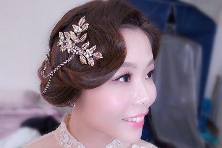Lillian新秘工作室-訂婚旗袍造型+迎娶典雅包頭