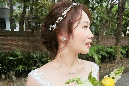Lillian新秘工作室-單眼皮新娘/仙氣低包頭/韓式大波浪捲髮
