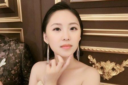 Lillian新秘工作室-短髮新娘+韓式低盤髮+油頭造型+短髮復古波紋