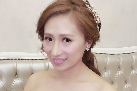 Amanda 新娘秘書  浪漫編髮 韓式低馬尾