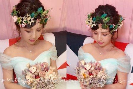 台中新秘Nisi 混血仙女風格 婚紗外拍/婚紗造型/婚紗妝髮