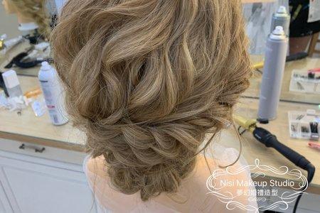 台中新秘Nisi 日系線條層次感髮型 結婚造型/結婚髮型/新娘髮型