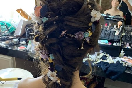 台中新秘Nisi 迪麗芭樂小公主 敬酒造型/結婚造型/結婚妝髮/新娘髮型/新娘妝髮