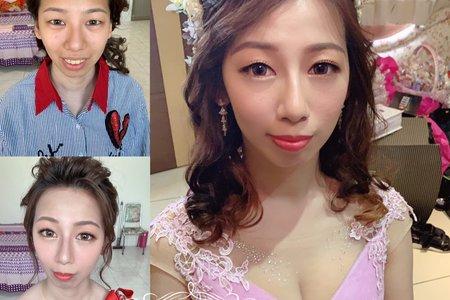 台中新秘Nisi 佳容公主訂婚造型/二進造型/訂婚髮型/訂婚妝髮/新娘妝髮
