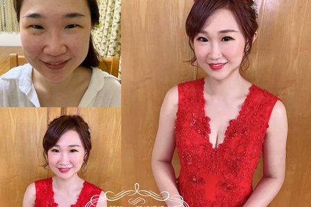 台中新秘Nisi 羽辰公主訂婚造型/訂婚髮型/訂婚妝髮