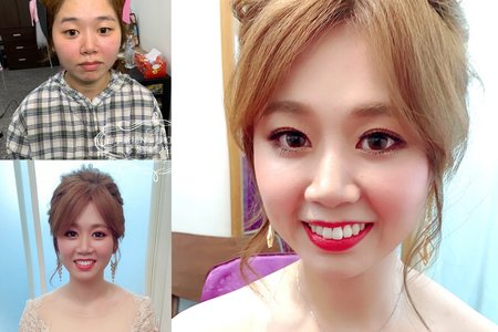 台中新秘Nisi 雅雅公主訂婚造型/訂婚髮型/訂婚妝髮/新娘髮型/新娘造型/新娘妝髮