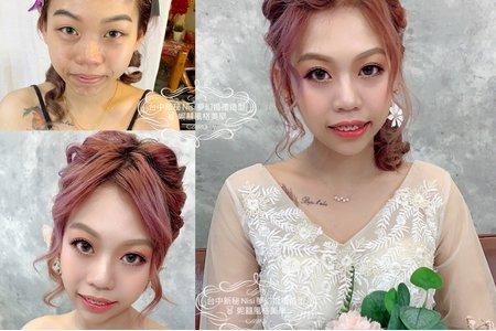 台中新秘Nisi 特殊髮色造型分享/新娘造型/新娘髮型/新娘妝髮/結婚造型/結婚髮型/結婚妝髮/訂婚造型/訂婚髮型/訂婚妝髮