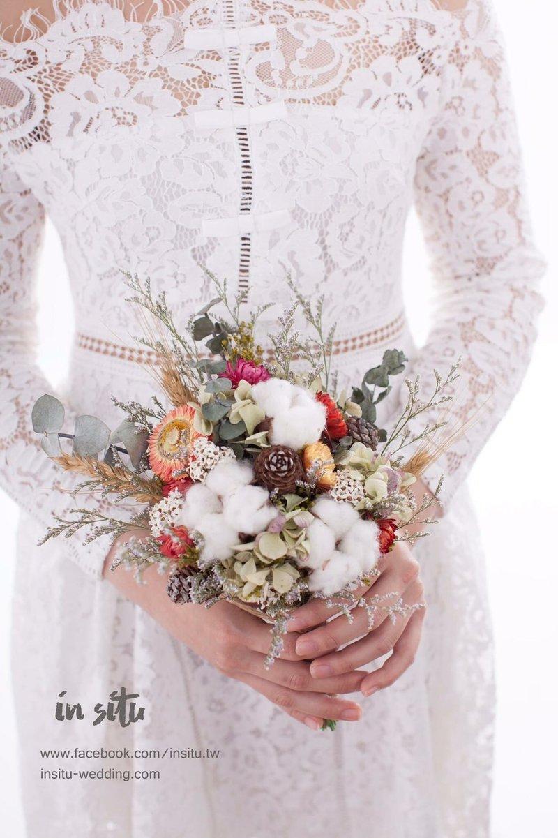 手綁乾燥捧花、胸花訂製作品