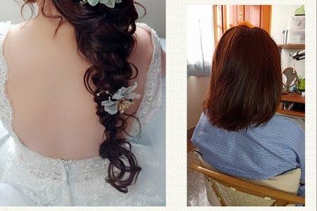 短髮新娘 接髮造型-嘉義新娘秘書 嘉義新秘吳小u
