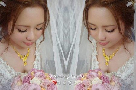 嘉義新娘秘書 嘉義新秘吳小u-白紗造型