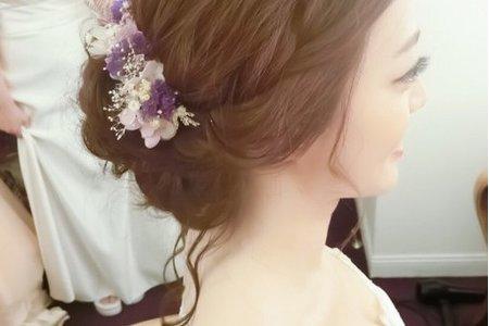 台中新秘韓系花藝造型 - 利穎