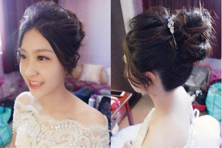 台南新秘黑髮短髮造型 - 芮婷