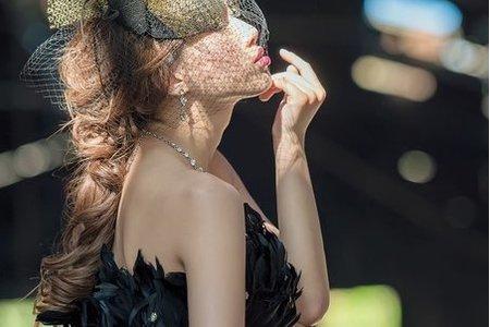 婚紗外拍-Naomi  廢區 黑紗 創作