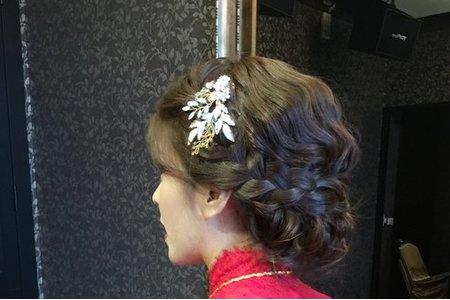 新娘雅玲-氣質、編髮、文定好媳婦